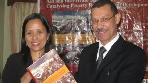 Rev. Malcolm Damon (right) with RoA Global Secretariat Coordinator during the RoA 2012 Report launch in Nairobi