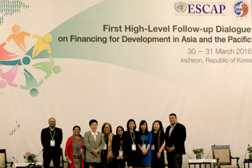 The CSO delegation in the First High-Level Follow-up Dialogue, composed of nine CSO representatives from Asia and the Pacific